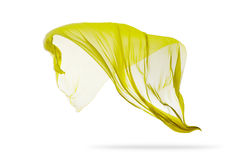 Приглаживайте элегантную желтую ткань изолированную на белой предпосылке Стоковые Фото