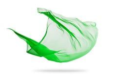 Приглаживайте элегантную зеленую ткань изолированную на белой предпосылке Стоковое Фото