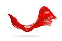 Приглаживайте элегантную красную ткань изолированную на белой предпосылке Стоковое Изображение RF