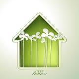 Приглашение зеленого дома весны Стоковое Фото