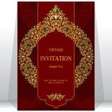 Приглашение или карточка свадьбы с абстрактной предпосылкой Стоковая Фотография RF