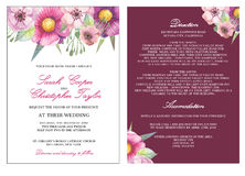 Приглашение карточки приглашения свадьбы с цветками акварели Стоковые Фотографии RF
