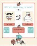 Приглашение карточки свадьбы Стоковые Изображения RF
