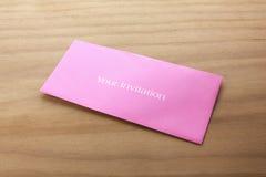 1 приглашение карточки Стоковые Фотографии RF