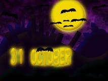 Приглашение к хеллоуину. Стоковое Изображение RF
