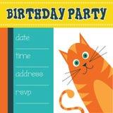 Приглашение дня рождения для детей Стоковые Фотографии RF