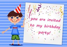 Приглашение дня рождения Стоковая Фотография RF