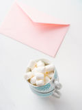 Приглашение дня ` s валентинки карточки чистого листа бумаги розовое Стоковая Фотография