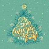 Приглашение партии Рожденственской ночи Стоковые Изображения RF