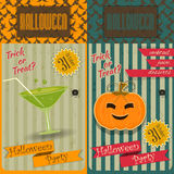 Приглашение партии хеллоуина иллюстрация штока