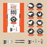 Приглашение партии BBQ Стоковые Изображения