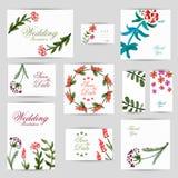Приглашение свадьбы, спасибо карточка, сохраняет карточки даты Карточка RSVP Стоковое фото RF
