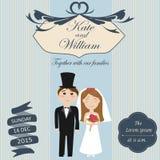 Приглашение свадьбы с винтажной темой Стоковая Фотография RF