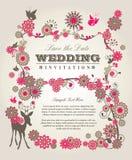 Приглашение свадьбы Стоковая Фотография