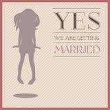 Приглашение свадьбы иллюстрация вектора