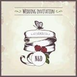 Приглашение свадьбы иллюстрация штока