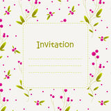 Приглашение с стилизованными ягодами Стоковое Фото