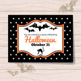 Приглашение хеллоуина иллюстрация штока