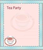 Приглашение чаепития иллюстрация штока
