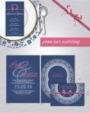 Приглашение для замужества, о тоне сини и пинка Стоковое фото RF