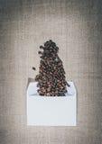 Приглашение для чашки кофе Валентайн сообщения габаритов карточек романтичное 6 Стоковые Изображения RF