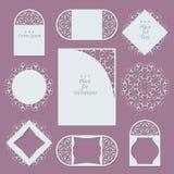 Приглашения свадьбы Предпосылка шнурка с местом для текста Стоковые Фотографии RF