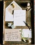 Приглашения свадьбы Стоковые Фотографии RF
