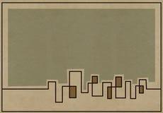 Приглушенная предпосылка горизонта для планов Стоковое фото RF