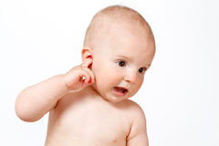 придавать правильную формуый конец младенца Стоковая Фотография