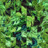 Придает квадратную форму мозаике в идя зеленом цвете с teal и голубыми лучами стоковые фотографии rf