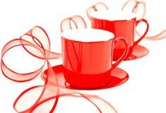 придает форму чашки красный цвет Стоковые Фото