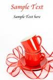 придает форму чашки красный цвет Стоковые Фотографии RF
