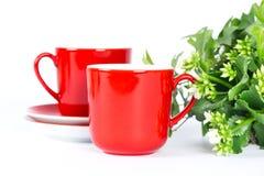 придает форму чашки красный цвет Стоковое Фото