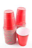 придает форму чашки пластмасса Стоковые Фото