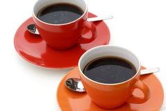 придает форму чашки померанцовый красный цвет Стоковое Изображение RF