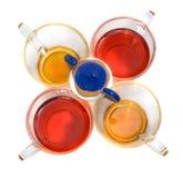 придает форму чашки различно такой же чай стоковые изображения
