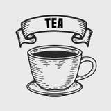придает форму чашки чай 3 поддонников Стоковые Фотографии RF
