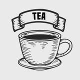 придает форму чашки чай 3 поддонников Стоковое фото RF