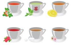 придает форму чашки чай иллюстрация штока