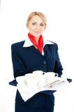 придает форму чашки stewardess Стоковая Фотография RF