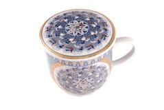 придайте форму чашки белизна чая Стоковое Изображение RF