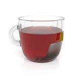 придайте форму чашки горячий чай иллюстрация вектора