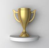 придайте форму чашки золотистая полка Стоковые Фотографии RF