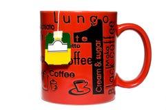 придайте форму чашки изолированный чай Стоковые Изображения