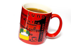 придайте форму чашки изолированный чай Стоковые Изображения RF