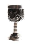 придайте форму чашки старое серебряное вино Стоковые Изображения