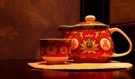 придайте форму чашки чайник стоковое изображение rf
