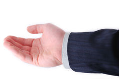 приданная форму чашки рука Стоковое Фото