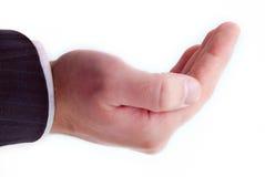 приданная форму чашки рука Стоковые Фото
