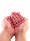 Приданные форму чашки руки изолировали Стоковые Изображения RF